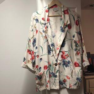 Jackets & Blazers - Floral Sports Jacket